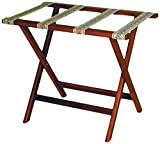 Wooden Mallet Deluxe Straight Leg Luggage Rack, Mahogany,...