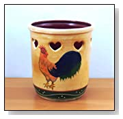 Ceramic Rooster Kitchen Utensil holder