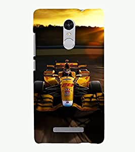 PRINTSHOPPII RACING CAR Back Case Cover for Xiaomi Redmi Note 3