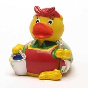 Pato de Goma mujer de limpieza marca Duckshop