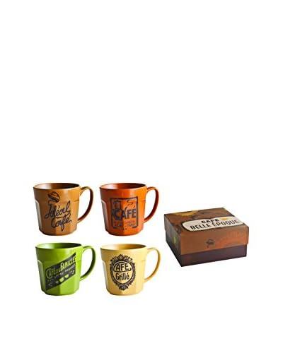 Rosanna Set of 4 Cafe Belle Epoque Grande Mugs
