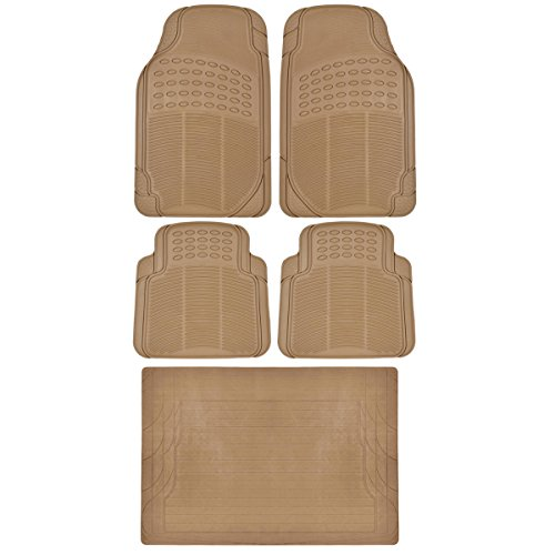 Bdk Beige 5 Piece Set Premium Heavy Duty Odorless Mats For Focus Hatch Electric