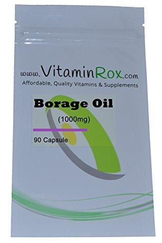 Borage Oil [1000mg] - 90 Capsule | Richiudibile Foil Package [Olio di borragine | Starflower olio]