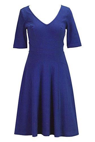 Eshakti Women'S Cotton Knit Curved Waist Dress 5X-32W Short Royal Blue