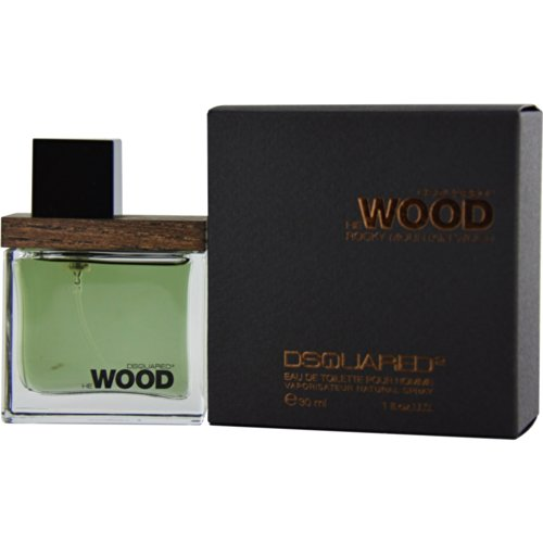 Dsquared He Rocky Mountain Wood, Eau de Toilette da uomo con vaporizzatore, 30 ml
