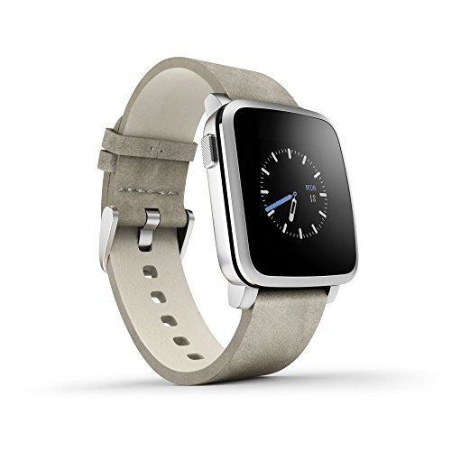 Pebble Time Steel Smart Watch silber