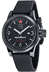 CCCP CP-7018-04 Typhoon Men's Silicon Watch - Black