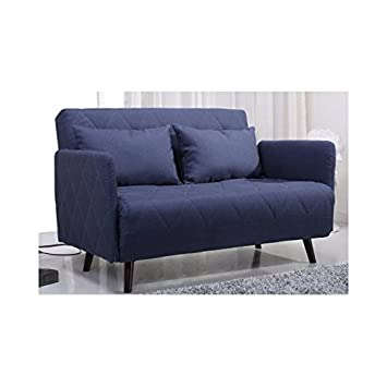 Sofá cama dos plazas azul