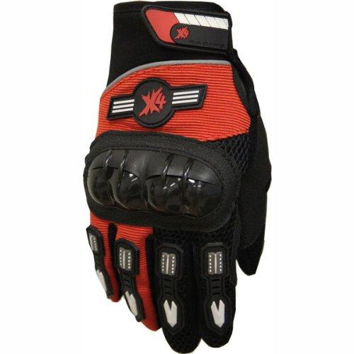 Street Bike Full Finger Motorcycle Gloves 010 orange/black (XL)