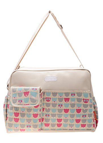 Bellotte Love Series Tote Diaper Bag, Bear - 1