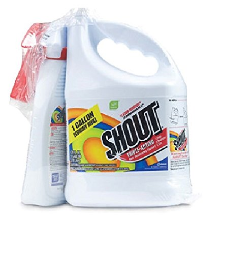 Shout® Stain Remover with Extendable Trigger Hose -128 Oz + 22 Oz. kitdpr04789dracb022514ct value kit purex liquid he detergent dpr04789 and shout laundry stain remover dracb022514ct