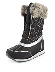 Ankle High Faux Fur Snow Boots