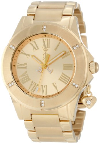 Juicy Couture Women's 1900894 Rich Girl Gold Plated Bracelet Watch