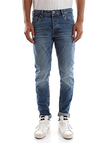JACK&JONES 12110050 TIM L.32 BLUE DENIM JEANS Uomo BLUE DENIM 33