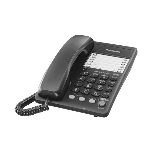 Panasonic Kx-Ts105B Integrated Business Corded Phone - Black