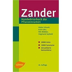 Zander - Handwörterbuch der Pflanzennamen