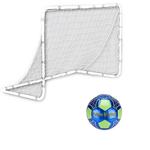 Kids' Medium Competition Soccer Goal With Nite Brite Soccer Ball (Size 4) (Nite Brite Football compare prices)