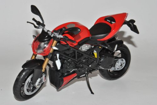 Ducati Mod. Streetfighter 2010 Rot 1/12 Mondo Motors Modell Motorrad mit individiuellem Wunschkennzeichen