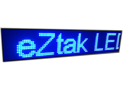 High Resolution Led Scrolling Sign P10 Blue