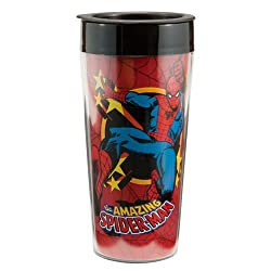 Marvel Comics Spider-Man 16 oz. Plastic Travel Mug