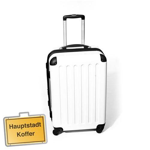 Hartschalen Koffer Weiss Hochglanz max.87 L Reisetrolley