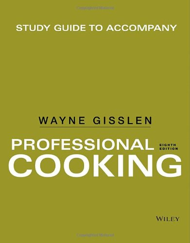 Professional Cooking - Study Guide