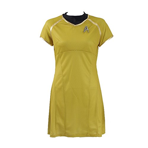 [Cosparts Star Trek Cosplay Into Darkness Marcus Blue&Red&Yellow Dress Uniform (US Size S,] (Red Star Trek Dress)