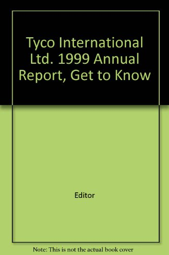 tyco-international-ltd-1999-annual-report-get-to-know