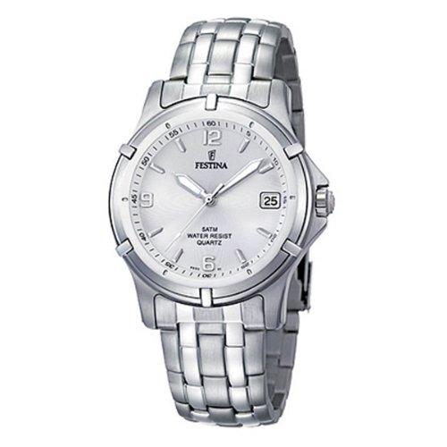 Festina F8920/1 - Reloj analógico de cuarzo para hombre con correa de acero inoxidable, color plateado