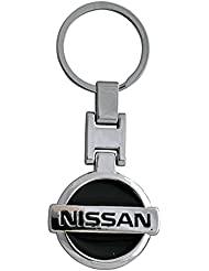 Techpro Premium Quality Metal Keychain With Black Nissan Design