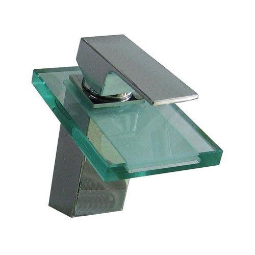 Lightinthebox® Modern Deck Mount One Single Handle Widespread Waterfall Bath Tub Mixer Taps Lavatory Bathroom Bathtub Vessel Sink Faucet Chrome Glass Spout Single Hole Plumbing Fixtures Unique Designe