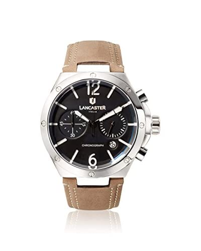 Lancaster Men's Brown/Black Leather Watch