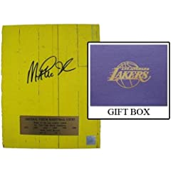 Magic Johnson Autographed Hand Signed Los Angeles Lakers Forum Floor Piece - 8X10