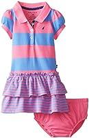 Nautica Baby Girls' Striped Pique Polo Dress