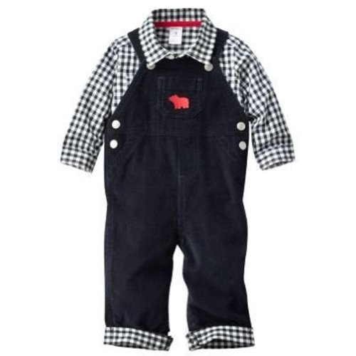 Carter's Baby Boys 2-Piece Overalls & Gingham