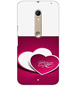 PrintDhaba Valentines Day D-4725 Back Case Cover for MOTOROLA MOTO X STYLE (Multi-Coloured)