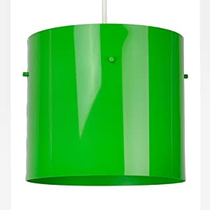 Modern Gloss Green Cylinder Ceiling Pendant Light Shade