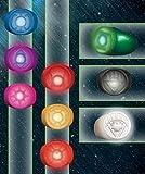 DC Comics Blackest Night Repliken Set Power Ring Spectrum