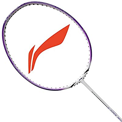 Li-Ning 360 Super Light G-Force Carbon Fiber Badminton Racquet, Size S2 (White/Purple)