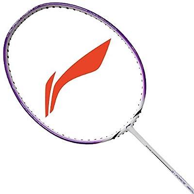 Li-Ning 360 Super Light G-Force Carbon Fiber Badminton Racquet, Size S2 (White/Purple)