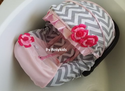 Infant Carseat Canopy Cover 3 Pc Whole Caboodle Baby Car Seat Cover Kit Cotton C030300