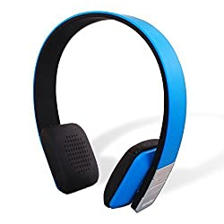 Garadise Melodise H1 Bluetooth wireless Stereo headphone with built in Microphone & Hands-Free Calling technology, 14 hours talk and playback time (Blue)