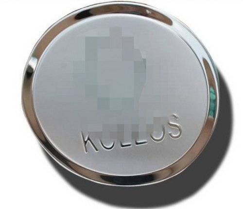 Car Chrome Stainless Steel Fuel Door Gas Tank Cap Lid Cover Trim Exterior Fit For 2009 2010 2011 2012 2013 2014 Koleos