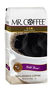 Mr. Coffee Bold Brew Dark Roast Ground Coffee, 12-Ounce Bags (Pack of 6)