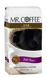 Mr. Coffee Bold Brew Dark Roast Ground Coffee, 12-Ounce Bags (Pack of 6)