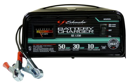 Schumacher SE-1250 Manual Operation 10 and 30 Amp Charger with 50