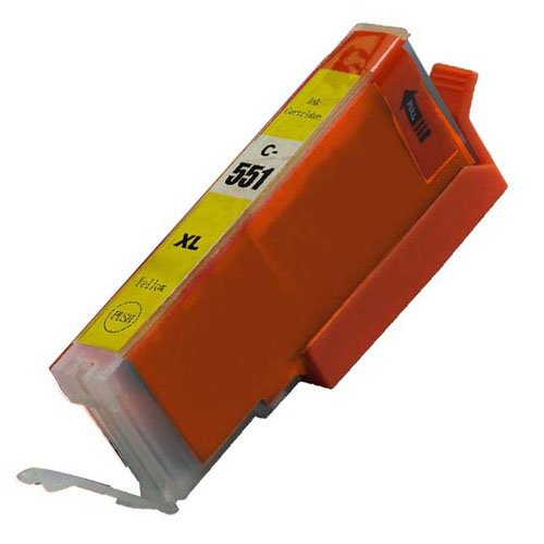 1, gelb CLI 551 High Capacity Kompatible Tintenpatronen für Canon Pixma iP7250 iP8750 iX6850,,, MG5650, MG5450, MG5550, MG6350, MG6450, MG7150, MG6650, MG7550, MX725, MX925