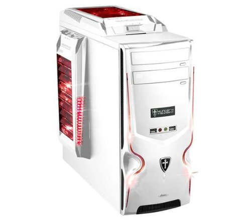 Advance 8111W0 Hunter X Boitier PC Gamer en Plastique ATX Blanc