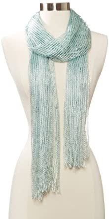 Collection XIIX Women's Lurex Net Wrap Scarf, Fresh Mint, One Size