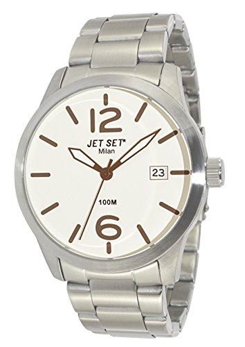 Jet Set 15231 J62803-062 - Reloj para hombres, correa de acero inoxidable color plateado